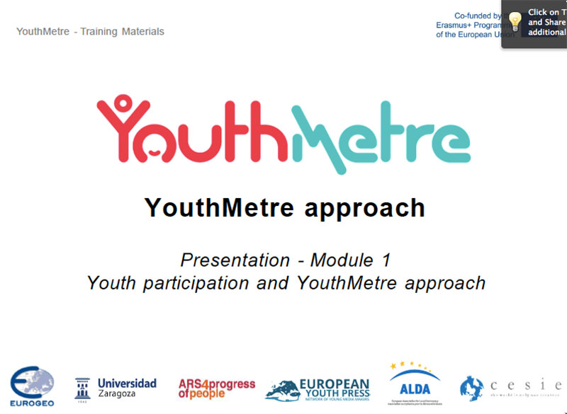 YouthMetre Training presentation
